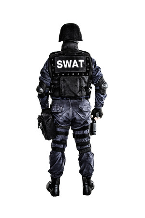 Special weapons and tactics (SWAT) team officer shot from behind
