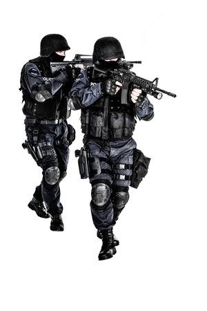 Special weapons and tactics team in action photo