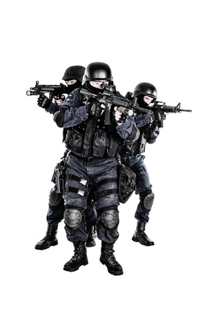 Special weapons and tactics (SWAT) team in action photo