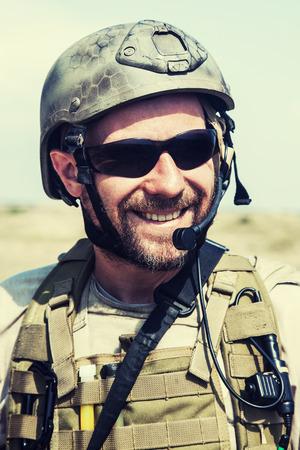 nato: Bearded SEAL team member in the desert