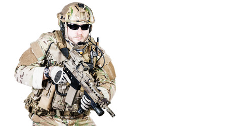 ranger: Bearded special warfare operator with assault rifle