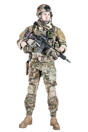 United States Army Ranger mit Sturmgewehr Standard-Bild - 35318787