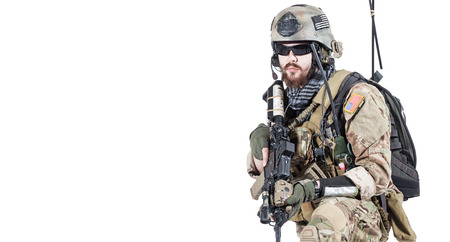 ranger: United States Army ranger with assault rifle