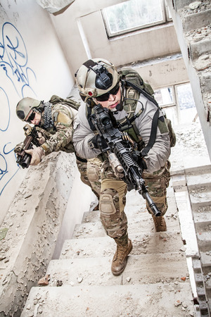 military forces: United States Army rangers during the military operation