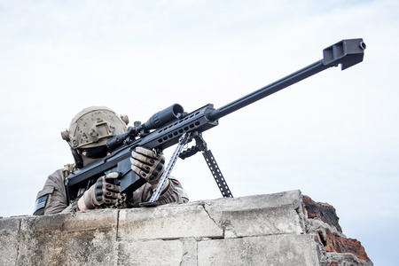 U.S. Army sniper during the military operation Standard-Bild