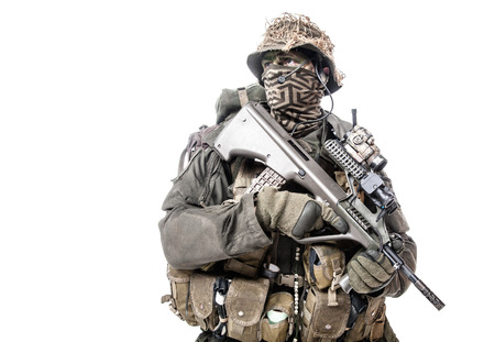 recon: Jagdkommando soldier Austrian special forces equipped with assault rifle