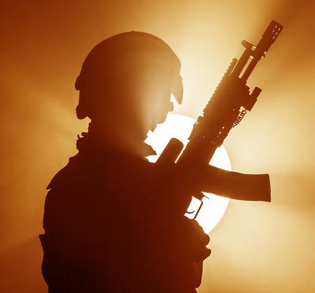 bulletproof: Russian special forces operator in bulletproof helmet in the smoke and fire
