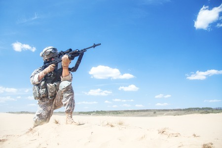 recon: United States airborne infantry marksman in action