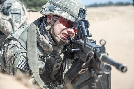 infantry: United States paratrooper airborne infantry in the desert