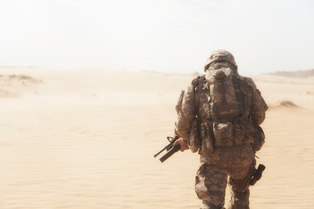 US paratrooper airborne infantrymen during the desert storm Stockfoto