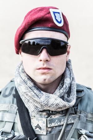 rifleman: United States paratrooper airborne infantry in uniform