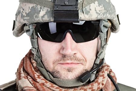 rifleman: United States paratrooper airborne infantry studio shot on white background
