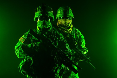 rifleman: United States paratroopers airborne infantry in the smoke