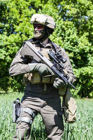 Jagdkommando soldaat Oostenrijkse special forces uitgerust met geweer Stockfoto - 45285821