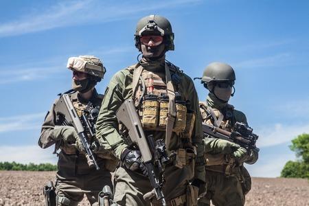 Groep jagdkommando militairen Oostenrijkse special forces