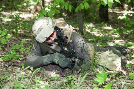 austrian: Jagdkommando soldier Austrian special forces equipped with rifle
