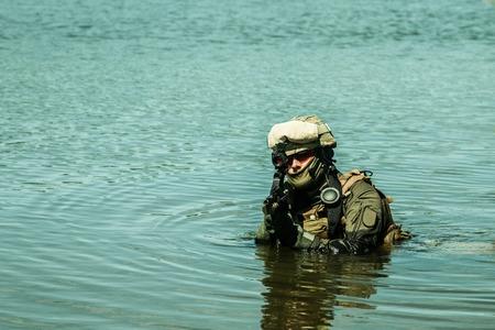Jagdkommando Oostenrijkse special forces uitgerust met aanvalsgeweer