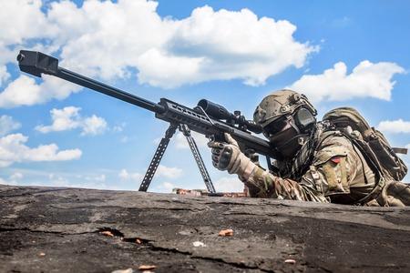 US Army Ranger sniper rifle met enorme