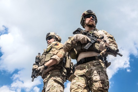 assault: United States Army rangers with assault rifles