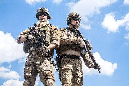 war: United States Army rangers with assault rifles