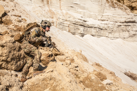 afghanistan: United States Army ranger in the mountains