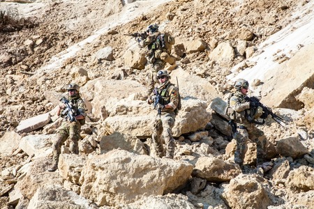 squad: United States Army rangers in the mountains