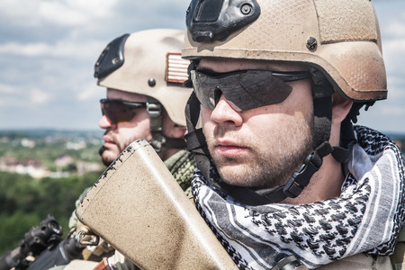 marksman: Navy SEALs Team with weapons in action