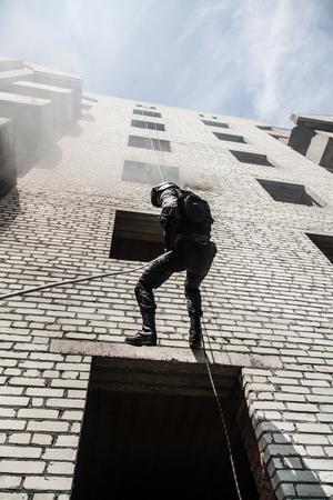 spec: Spec ops police officer SWAT during assault operation