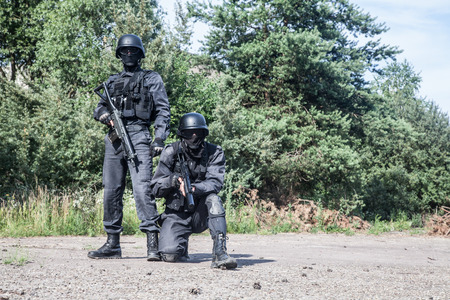 spec: Spec ops police subdivision SWAT in action Stock Photo