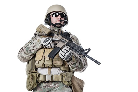 berets: Green Berets US Army Special Forces Group soldier studio shot