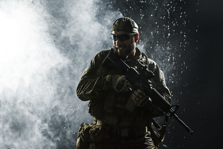 sof: Green Berets US Army Special Forces Group soldier in the rain