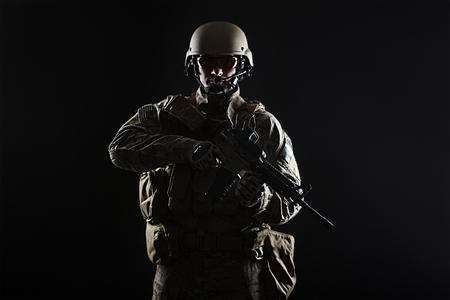 sof: Green Berets US Army Special Forces Group soldier studio shot