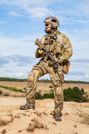 recon: Green Berets US Army Special Forces Group soldier Stock Photo