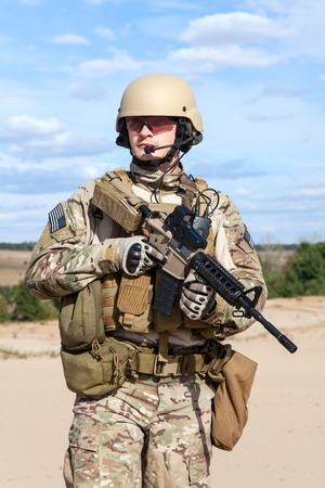 us soldier: Green Berets US Army Special Forces Group soldier Stock Photo