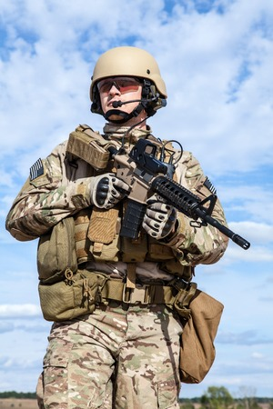 special operations: Green Berets US Army Special Forces Group soldier Stock Photo