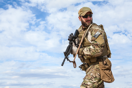 berets: Green Berets US Army Special Forces Group soldier Stock Photo