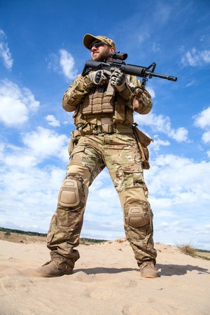 sof: Green Berets US Army Special Forces Group soldier Stock Photo
