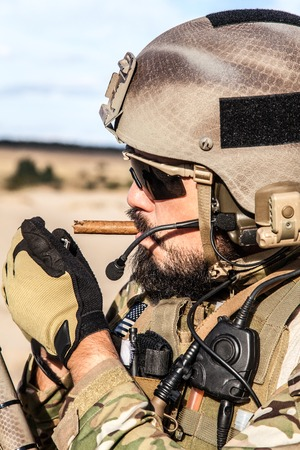 sof: Green Berets US Army Special Forces Group soldier smoking