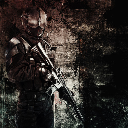 spec: Spec ops police officer SWAT. A hand drawn image