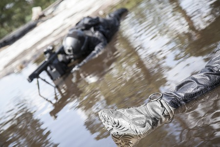 special forces: Dead bodies of special forces operators killed during a special operation Stock Photo