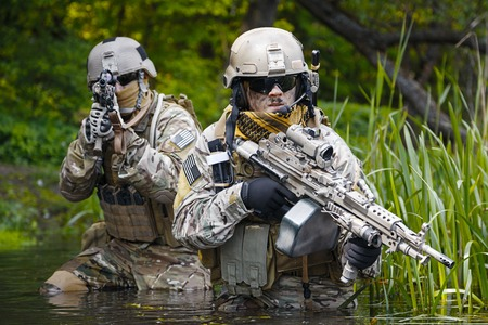 recon: Green Berets US Army Special Forces Group soldiers in action