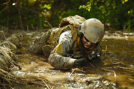 recon: Green Berets US Army Special Forces Group soldier in action