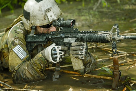 sof: Green Berets US Army Special Forces Group soldier in action