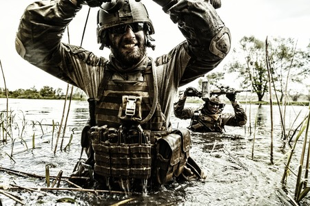berets: Green Berets US Army Special Forces Group soldiers in action