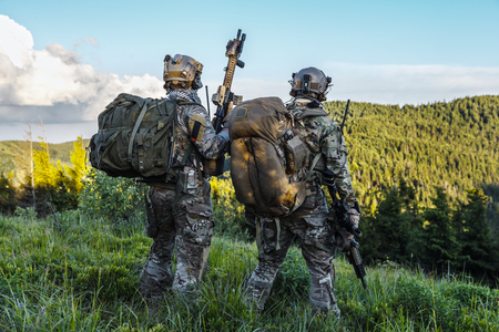 United states army rangers in the mountains Stok Fotoğraf