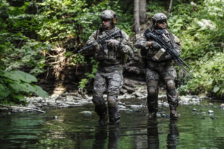 United States Army Rangers in de bergen