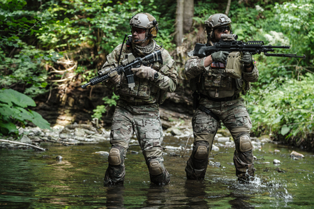 gi: United states army rangers in the mountains Stock Photo