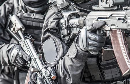 SWAT team fighters ready to arrest danger criminal