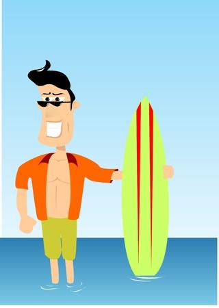 surfer vector: surfer vector