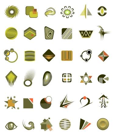 antipollution: conjunto de iconos de 36 y elementos de dise�o